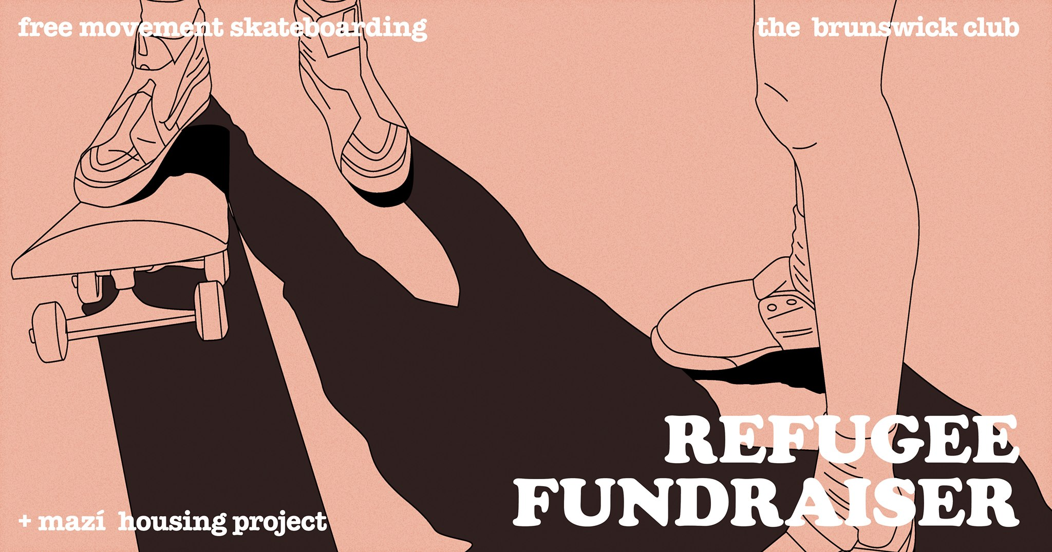 Refugee Fundraiser – Free Movement SB & Mazí Housing Project – 13/12/18